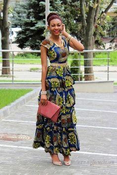 Inspiration - Robe longue by Onyinye | Pagnifik