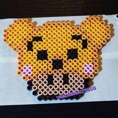 Winnie the Pooh mushroom perler beads by vablackbelt