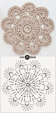 Aprendendo a ler os gráficos pattern crochet doily. This looks like a good practice pattern for learning how to read this type of pattern.With this new free pattern crochet doily, create the perfect decorative item, to keep or to Mandalas en Crochet Motifs, Crochet Diagram, Crochet Squares, Diy Crochet, Crochet Crafts, Crochet Doilies, Crochet Flowers, Crochet Projects, Mandala Crochet
