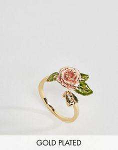 Bill Skinner Gold Plated Vintage Rose Ring