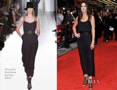 Sandra Bullock di Beckham vestita: abito con reggiseno in vista » GOSSIPpando | GOSSIPpando