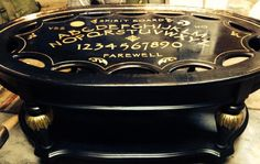 Quija/ Spirit Board Coffee Table in black and gold!