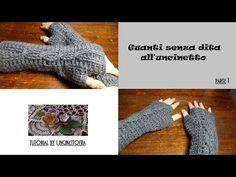 guanti senza dita all'uncinetto tutorial (parte 1) - YouTube Crochet Beret, Crochet Gloves, Addi Express, Crochet Accessories, Hand Warmers, Fingerless Gloves, Crochet Patterns, Knitting, Creative