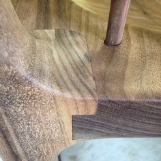 """The Maloof chair leg joint with 6 degree splay & 1/2"""" deep shoulder…"""