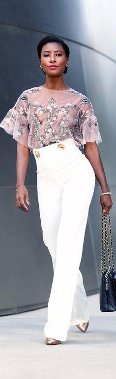 This outfit got me feeling like… // Top: Zara , Blazer: Zara // Fashion Look by Deddeh Howard