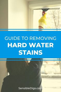 An unfortunate side effect of having hard water in your home is the build up of hard water stains and water spots on glass surfaces. Thankfully, with just a little effort you can have your glass gleaming again. #showerideas #showerremodel #showerfaucet #showerheads #showering #bathroomideas #homerenovationideas