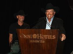George Strait Photos Photos - Kenny Chesney and George Strait present Tony Martell Lifetime Entertainment Achievement Award to Louis Messina at the T.J. Martell Foundation 9th Annual Nashville Honors Gala at Omni Hotel on February 27, 2017 in Nashville, Tennessee. - 2017 Nashville Honors Gala - Show
