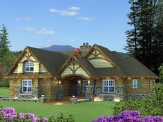 #Craftsman #Houseplan 42625 has 1858 total square feet of heated living space, 3 bedrooms and 3 full bathrooms.