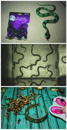 Halloween Costume DIY: Make a Medusa Snake Headband | The TipToe Fairy #halloween #halloweenDIY #halloweencostume