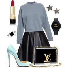 chic drôle by souchi26 on Polyvore featuring polyvore fashion style Acne Studios MSGM Dana Rebecca Designs BERRICLE Dolce&Gabbana