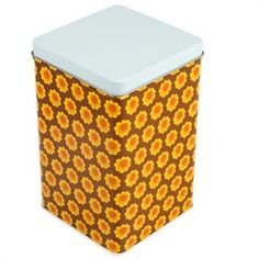 Tea/Coffee Tin Retro Flowers - Scandicool - Scandinavian gifts, homewares and clothing