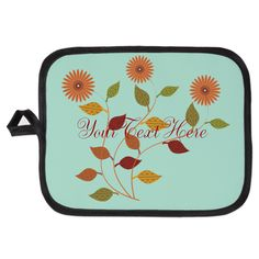 Personalized Thanksgiving Party Palette Mint Green Potholder.