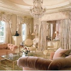 Cream And Old Rose Victorian Style Luxury Bedroom Suite