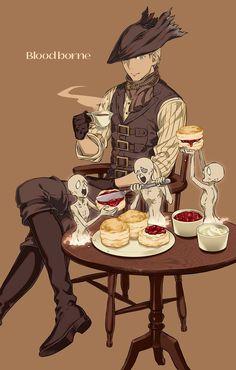 Bloodborne Art, Soul Game, Old Blood, Fandom Games, Anime People, Dark Souls, Funny Cute, Evolution, Character Art