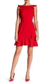 1ceb119985d5 Ruffle Boatneck Crepe Dress by Donna Morgan on @nordstrom_rack Donna Morgan,  Crepe Dress,