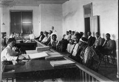 Photo: Chickasaw Freedmen filing for allotment in Oklahoma. | Emancipation and the end of the Civil War did not bring immediate relief to the Enslaved living in the Choctaw and Chickasaw Nations.  The United States considered them to be separate political polities; therefore, the Abolition of Slavery as stated in the Thirteenth Amendment did not apply in Indian Territory.  The Choctaw/Chickasaw treaty of 1866 outlined the details of Emancipation, Citizenship, and land claims for the Freedmen...