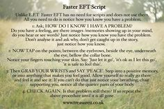 Faster EFT tapping points and FasterEFT tapping script How to ge rid of a problem easily, http://www.treasureu.co.uk