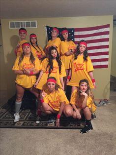 Average Joes squad #halloween #college Halloween Costumes To Make, Halloween College, Halloween 2017, Halloween Inspo, Couple Halloween, Halloween Diy, Halloween Decorations, College Costumes, Group Costumes