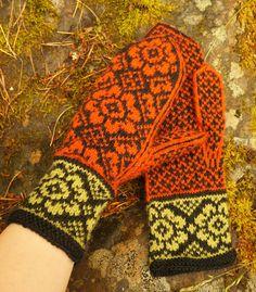 Käsistä karannut blogin Dropsin mallilla muunellen Knit Mittens, Knitted Gloves, Knitting Socks, Hand Warmers, Color Inspiration, Knits, Crocheting, Knit Crochet, Projects To Try