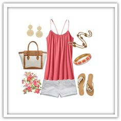 Pink and white by romigr99 on Polyvore