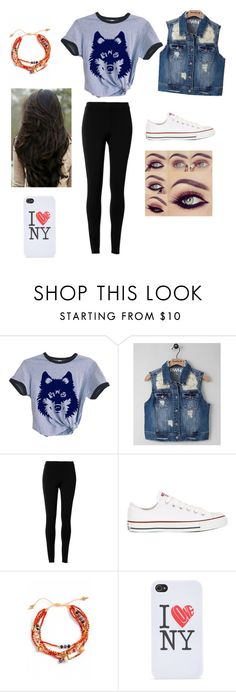 """""""She Wolf"""" by myloverseyes on Polyvore featuring beauty, RWH by Rewash, Max Studio, Converse, Chan Luu and With Love From CA"""