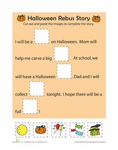 Worksheets: Halloween Rebus Story