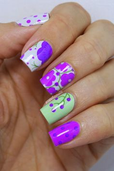 Scratch Nail Wraps Review - grape fizz nails