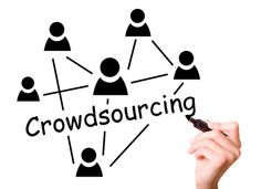 The term crowdsourcing, is formed, by combining 'crowd' and 'outsourcing' together which basically means delegating work to a group of people so the tasks are divided.