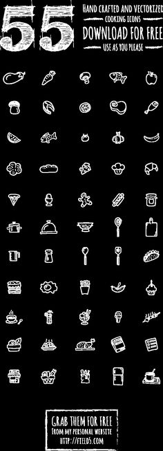 Cooking icons set - free on Behance, download from https://www.behance.net/gallery/Cooking-icons-set-free/15941079