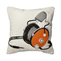Room Essentials® Headphones Decorative Pillow Love the music theme
