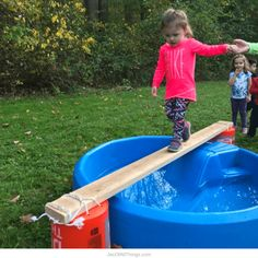 Backyard Obstacle Course Party for Kids Backyard Obstacle Course Ideas - Walk the plank Obstacle Course Party, Toddler Obstacle Course, Backyard Obstacle Course, Backyard For Kids, Diy For Kids, Backyard Games, Backyard Ideas, Backyard Camping, Garden Games