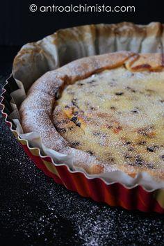 Crostata Veloce con Ricotta Romana, Polvere d'Arancia e Gocce di Cioccolato