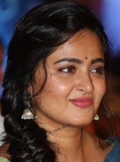 Tamil Actress Anushka Shetty Beautiful Earrings Oily Face Closeup