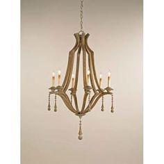 Breakfast room project: Wood chandelier