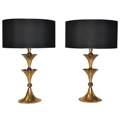 Pair of table lamps. | From a unique collection of antique and modern table lamps at https://www.1stdibs.com/furniture/lighting/table-lamps/
