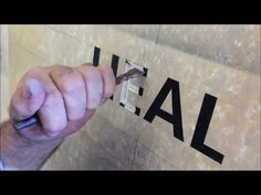 UCI Fountain - letter carving on stone by Roger Chaulk - YouTube Hammer And Chisel, Fountain, Carving, Lettering, Stone, Youtube, Rock, Water Well, Wood Carving