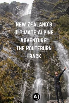 The Hiking Route of Routeburn in Fiordland National Park, New Zealand