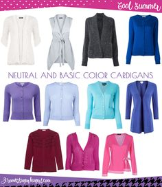 Find your best neutral and basic color cardigans and wear them during this autumn or any time you need a plus layer. Which is the best neutral and basic color shades for Cool Summer seasonal color women? And what is the key style elements of your seasonal palette? Click and read it in my post.
