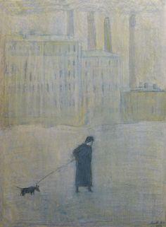 Saint Petersburg by Anna Zinshteyn_Анна Зинштейн (1986). Бобик, домой!  масляная пастель, акварель / бумага. 2012