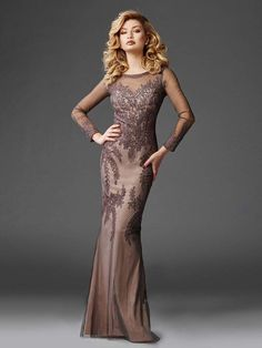a381068dd1e Clarisse - M6425 Longsleeved Soutache Evening Gown