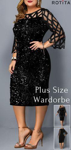 Sexy plus size holiday dress for curvy girls Plus Size Holiday Dresses, Plus Size Dresses, Girl Fashion, Fashion Dresses, Womens Fashion, Mode Xl, Simple Dresses, Formal Dresses, Wedding Dresses