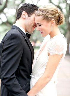 Cabelo apanhado com tranças. #casamento #penteados #noivas