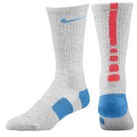 Nike Elite Basketball Crew Socks - Men's - Grey