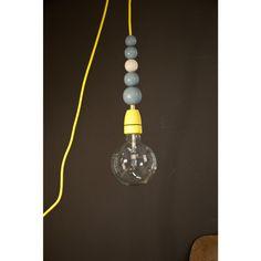 textilkabel lampe mit schalter und stecker von utopias auf. Black Bedroom Furniture Sets. Home Design Ideas
