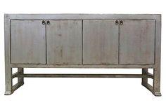 Bertram 4-Door Sideboard, Silver on OneKingsLane.com