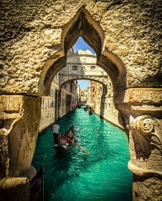 Boat trip on Bridge of Sights ~ Venice, Italy