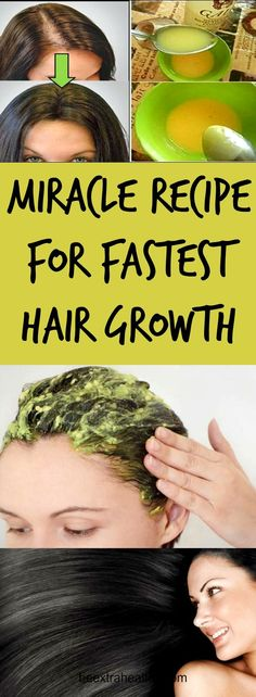 MIRACLE RECIPE FOR FASTEST HAIR GROWTH-We all want to have beautiful and healthy hair. There are numerous hair treatments for your hair to grow faster, stronger, and there are different treatments against hair loss.