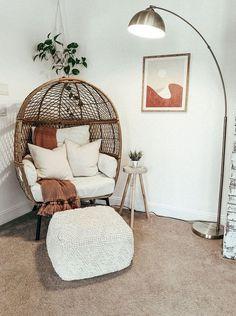 Boho Room, Boho Living Room, Living Room Chairs, Cozy Living, Living Room And Bedroom Combo, Living Room Decor Cozy, Dining Rooms, Room Ideas Bedroom, Bedroom Decor