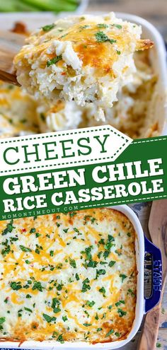 Your new favorite Thanksgiving side! 4 ingredients are all you need for this Thanksgiving dinner recipe. Full of creamy, cheesy goodness, this Green Chile Rice casserole is absolutely delicious! Rice Dishes, Casserole Dishes, Casserole Recipes, Food Dishes, Easy Chicken Rice Casserole, Hamburger Casserole, Side Dishes Easy, Side Dish Recipes, Dinner Recipes
