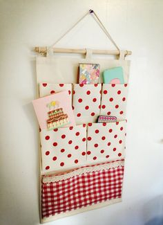 Wall or door fabric pocket hanging organizer customize made organizers costom…